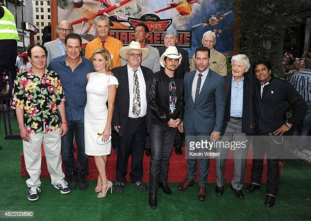 The cast and crew attend the premiere of Disney's 'Planes Fire Rescue' at the El Capitan Theatre on July 15 2014 in Hollywood California