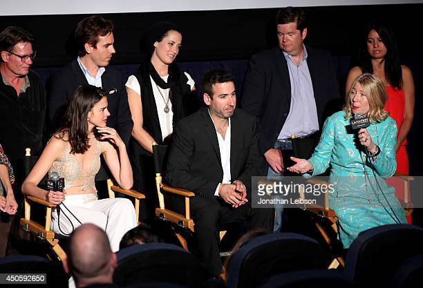 The cast and crew attend the premiere of Inner Demons during the 2014 Los Angeles Film Festival at Regal Cinemas LA Live on June 13 2014 in Los...