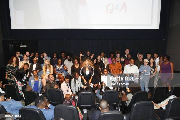 The cast and crew attend the premiere of Problem at the Landmark Theater on July 02 2019 in Los Angeles California