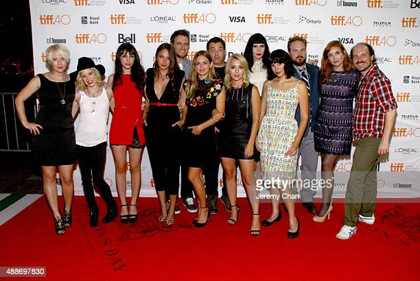 The cast and crew attend the Southbound photo call during the 2015 Toronto International Film Festival at Ryerson Theatre on September 16 2015 in...