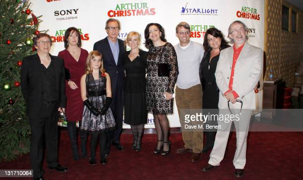 The cast and crew attend the UK Premiere of Arthur Christmas at the Empire Leicester Square on November 6 2011 in LondonEngland