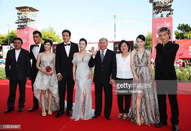 The cast and crew attend the Warriors Of The Rainbow Seediq Bale premiere at the Palazzo Del Cinema during the 68th Venice Film Festival on September...