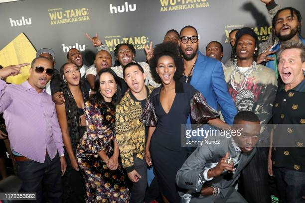 The cast and crew attend the WuTang An American Saga Premiere on September 04 2019 in New York City