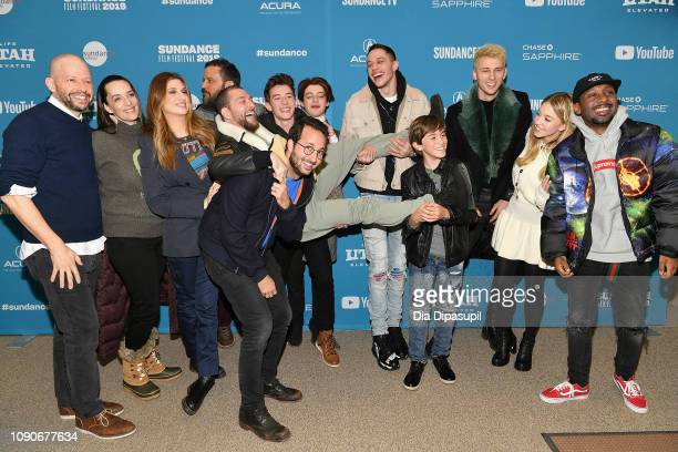 The cast and crew attends the Big Time Adolescence Premiere during the 2019 Sundance Film Festival at Eccles Center Theatre on January 28 2019 in...