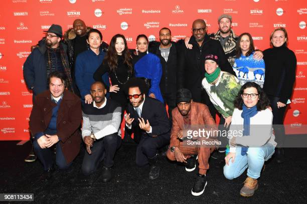 The Cast and Crew attends the 'Sorry To Bother You' Premiere during 2018 Sundance Film Festival at Park City Library on January 20 2018 in Park City...