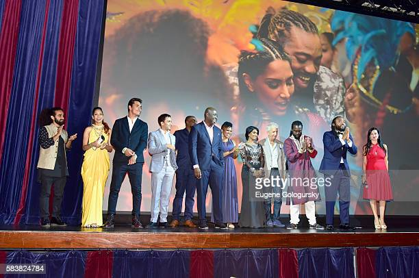 The cast and crew of Badozee attends Bazodee premiere and concert featuring Machel Montano and friends at PlayStation Theater on July 27 2016 in New...