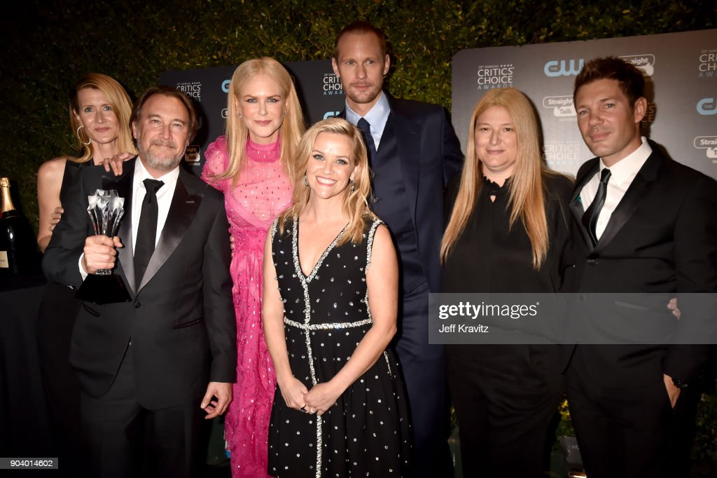 The cast and crew of 'Big Little Lies' attend The 23rd Annual Critics' Choice Awards at Barker Hangar on January 11, 2018 in Santa Monica, California.