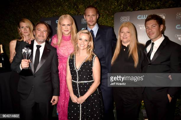 The cast and crew of 'Big Little Lies' attend The 23rd Annual Critics' Choice Awards at Barker Hangar on January 11 2018 in Santa Monica California