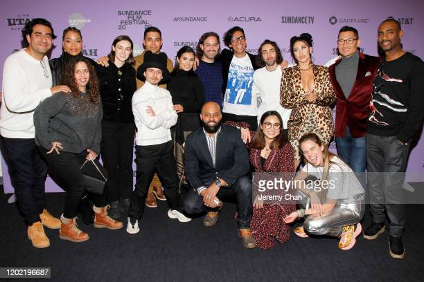 The cast and crew of Blast Beat attend the 2020 Sundance Film Festival Blast Beat Premiere at The Ray on January 26 2020 in Park City Utah