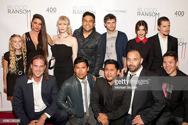 "The cast and crew of ""Blood Ransom"" Emily Skinner, Natalina Maggio, Jasmin Kuhn, Francis dela Torre, Anne Curtis, Caleb Hunt, Sven Holmberg,..."
