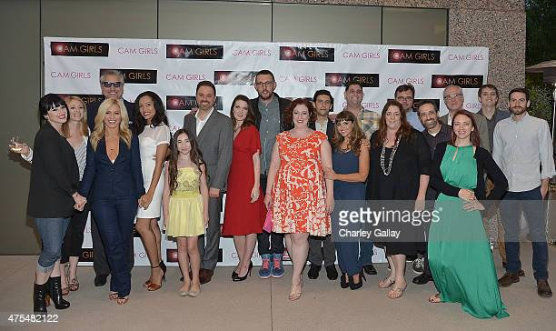 The cast and crew of CAM GIRLS attend the screening party for the new original web series CAM GIRLS at United Talent Agency on May 31 2015 in Beverly...
