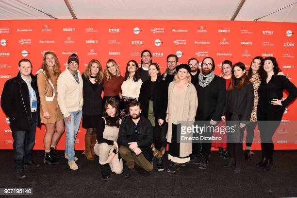 The cast and crew of 'Clara's Ghost' attend the 'Clara's Ghost' Premiere during the 2018 Sundance Film Festival at Park City Library on January 19...