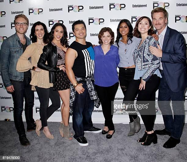 The cast and crew of Crazy Ex-Girlfriend, Jack Dolgen, Aline Brosh McKenna, Gabrielle Ruiz, Vincent Rodriguez III, Vella Lovell, Rachel Bloom, Rachel...