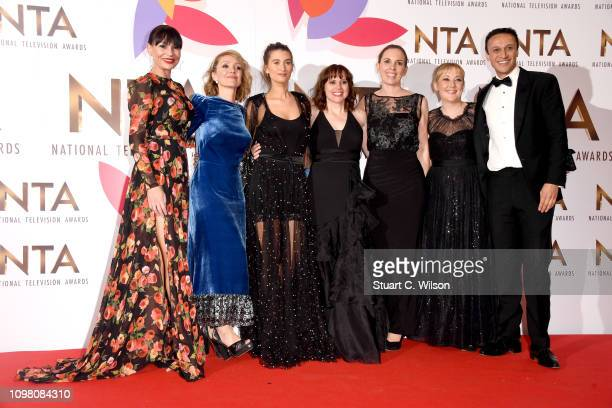 The cast and crew of Emmerdale winner of the Best Serial Drama award during the National Television Awards held at The O2 Arena on January 22 2019 in...
