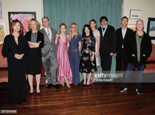The cast and crew of 'Feud' Susan Sarandon Jessica Lange Tim Minear Kiernan Shipka Dede Gardner Alexis Martin Woodall Gina Welch Alfred Molina John J...