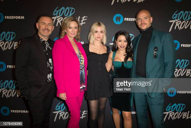 TROUBLE The cast and crew of Freeform's Good Trouble gathered at the historic Palace Theatre in Downtown Los Angeles to celebrate the premiere of the...