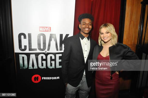S CLOAK DAGGER The cast and crew of Freeforms highly anticipated new series Marvel's Cloak Dagger attends the world premiere watch party at SXSW in...