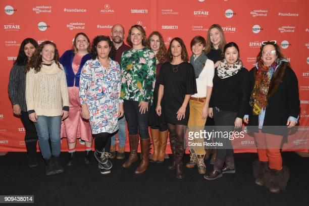The cast and crew of Half The Picture pose during the Half The Picture Premiere during the 2018 Sundance Film Festival at Prospector Square Theatre...