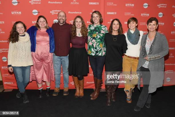 The cast and crew of 'Half The Picture' pose during the 'Half The Picture' Premiere during the 2018 Sundance Film Festival at Prospector Square...