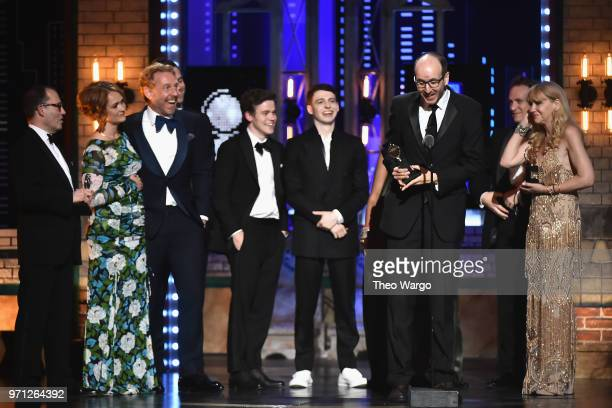 The cast and crew of Harry Potter and the Cursed Child Parts One and Two accept the award for Best Play onstage during the 72nd Annual Tony Awards at...