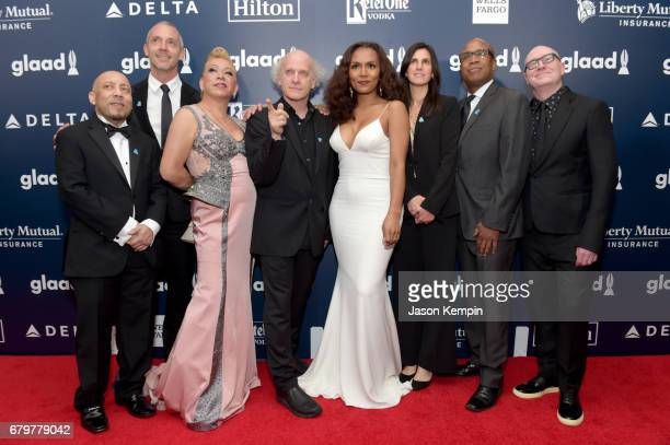 The cast and crew of HBO's The Trans List attends 28th Annual GLAAD Media Awards at The Hilton Midtown on May 6 2017 in New York City