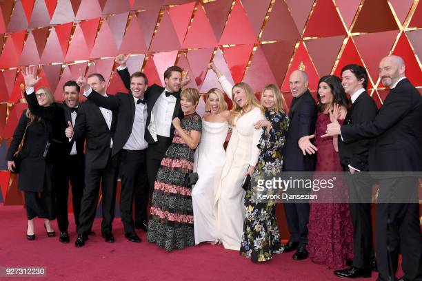 The cast and crew of 'ITonya' attends the 90th Annual Academy Awards at Hollywood Highland Center on March 4 2018 in Hollywood California