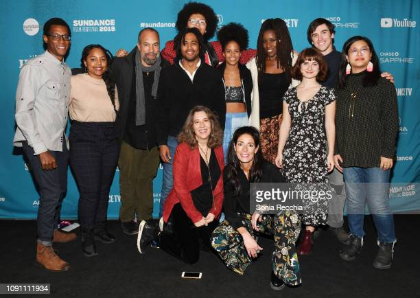 The cast and crew of It's Not About Jimmy Keene attends the Indie Episodic Program 2 during the 2019 Sundance Film Festival at Prospector Square...