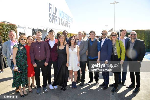 The cast and crew of 'Minding the Gap' attend the 2019 Film Independent Spirit Awards on February 23 2019 in Santa Monica California