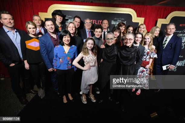 The Cast and Crew of Netflix's 'A Series of Unfortunate Events' Season 2 attend the Netflix Premiere of 'A Series of Unfortunate Events' Season 2 on...