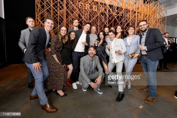 The cast and crew of Plus One attend the Plus One Premiere After Party at the Bulleit 3D printed Frontier Lounge during Tribeca Film Festival on...