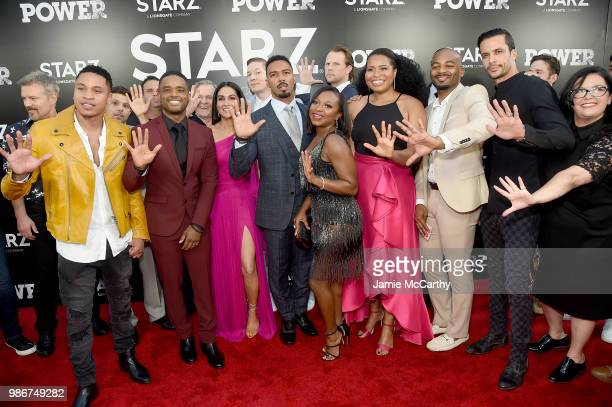 The cast and crew of 'Power' attends the Starz 'Power' The Fifth Season NYC Red Carpet Premiere Event After Party on June 28 2018 in New York City