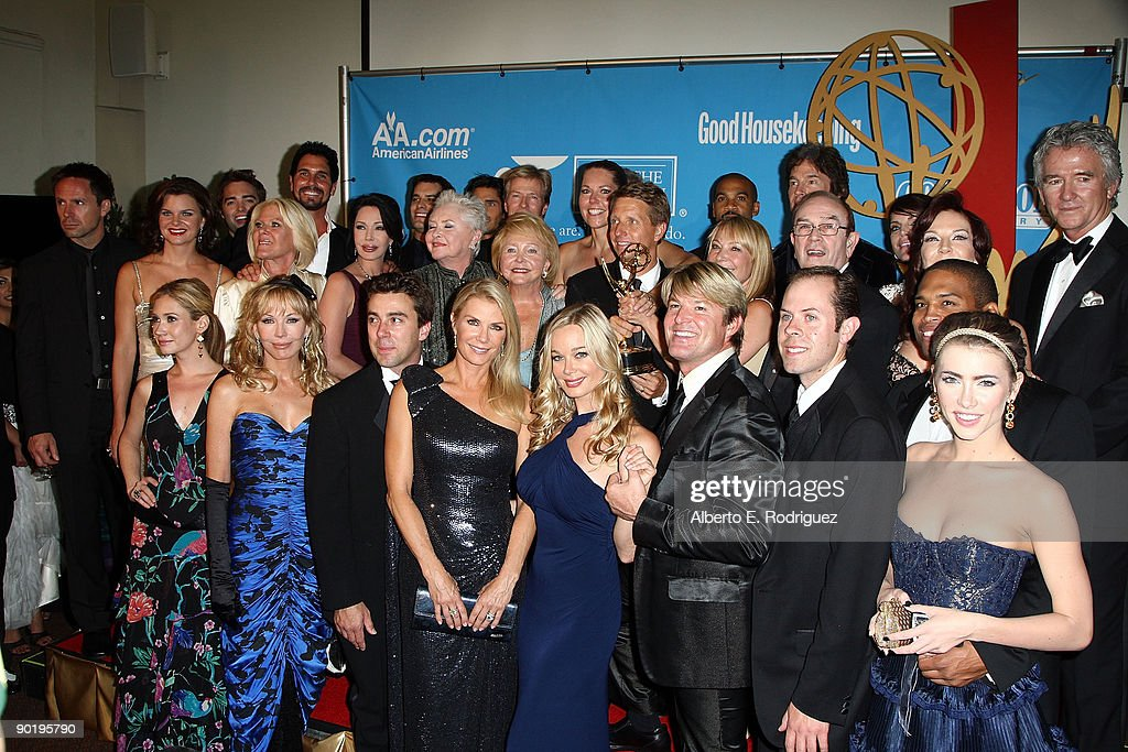 The cast and crew of 'The Bold and the Beautiful' pose in the press room during the 36th Annual Daytime Emmy Awards at The Orpheum Theatre on August 30, 2009 in Los Angeles, California.
