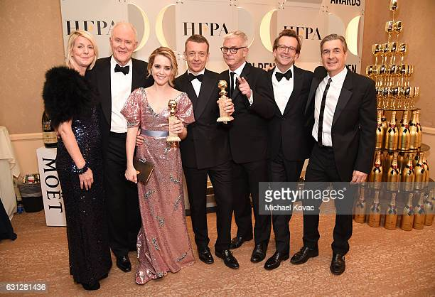 The cast and crew of The Crown attend the 74th Annual Golden Globe Awards at The Beverly Hilton Hotel on January 8 2017 in Beverly Hills California