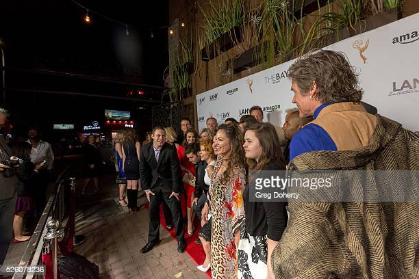 The Cast and Crew of the Emmy Winning Series The Bay pose for a portrait at the LANY Entertainment Presents The Bay PreEmmy Party at the St Felix on...