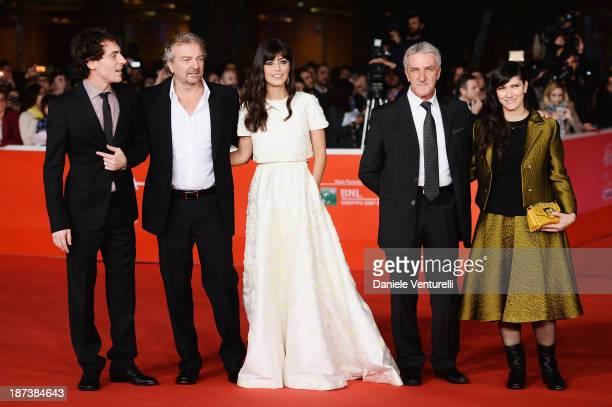 The cast and crew of the film Elio Germano Giovanni VeronesiAlessandra Mastronardi Ernesto Fioretti and Elisa Toffoli attend the Opening Ceremony and...