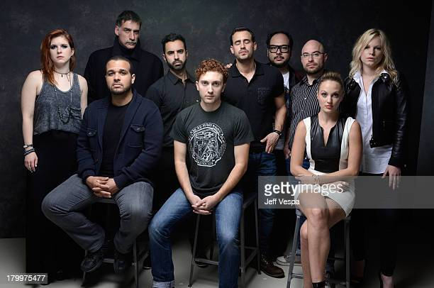 The cast and crew of 'The Green Inferno' pose at the Guess Portrait Studio during 2013 Toronto International Film Festival on September 7 2013 in...