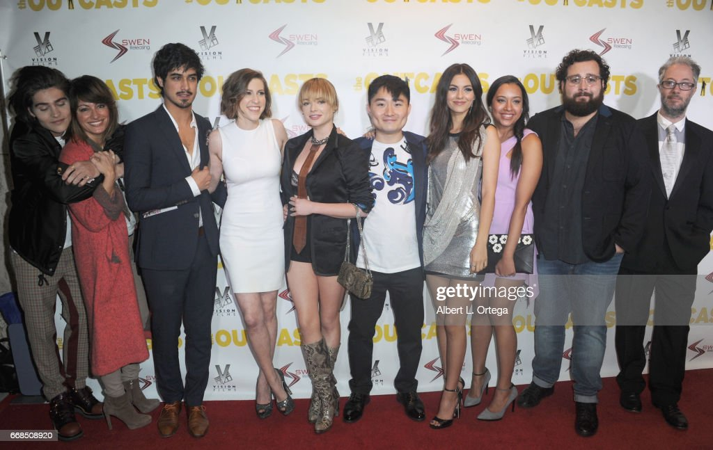 The cast and crew of 'The Outcasts' arrive for the Premiere Of Swen Group's 'The Outcasts' held at Landmark Regent on April 13, 2017 in Los Angeles, California.