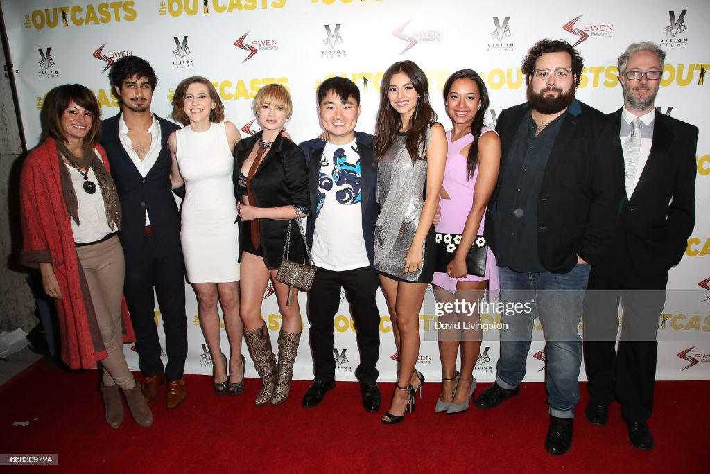 The cast and crew of 'The Outcasts' attend the premiere of Swen Group's 'The Outcasts' at Landmark Regent on April 13, 2017 in Los Angeles, California.
