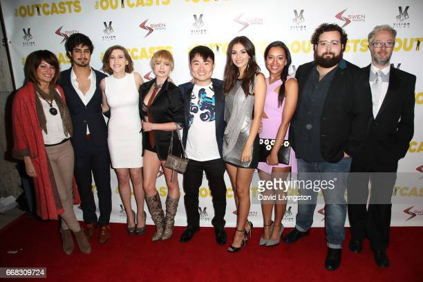 The cast and crew of 'The Outcasts' attend the premiere of Swen Group's 'The Outcasts' at Landmark Regent on April 13 2017 in Los Angeles California