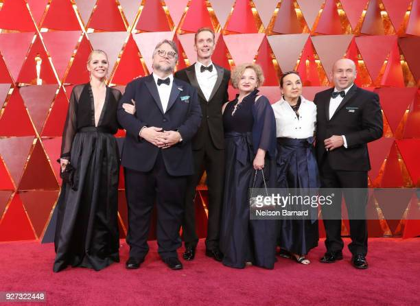 The cast and crew of 'The Shape of Water' attends the 90th Annual Academy Awards at Hollywood Highland Center on March 4 2018 in Hollywood California