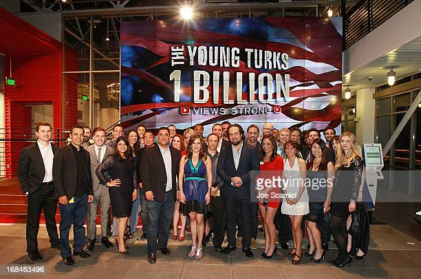 The cast and crew of The Young Turks attend the Young Turks celebration of 1 billion views at YouTube LA on May 9 2013 in Playa Vista California