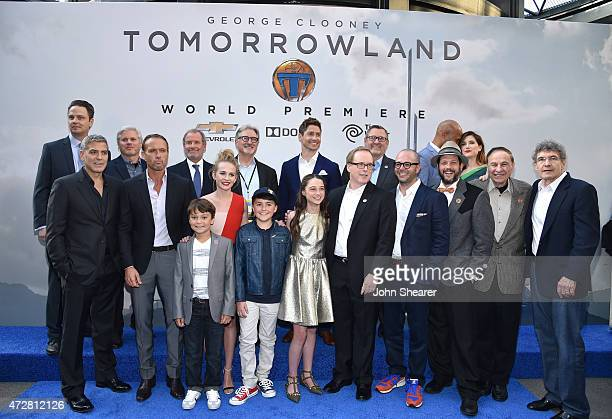 The cast and crew of Tomorrowland attend the premiere of Disney's Tomorrowland at AMC Downtown Disney 12 Theater on May 9 2015 in Anaheim California