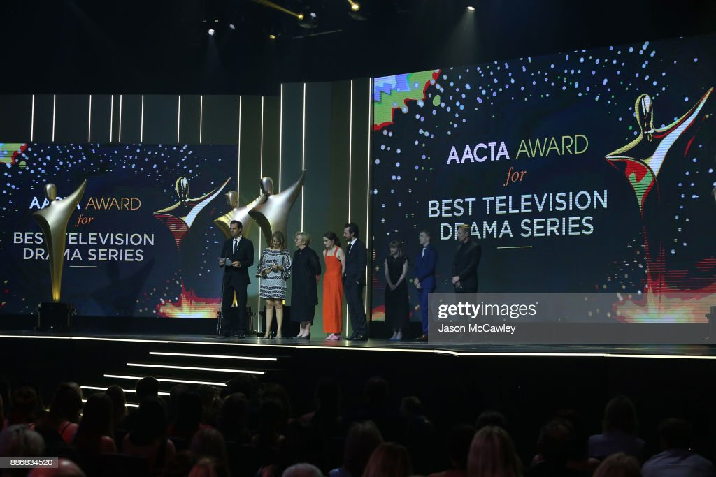 China Girl accept the AACTA Award for Best Television Drama