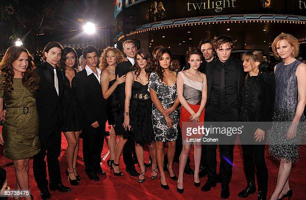 The cast and crew of Twilight Elizabeth Reaser Jackson Rathbone Christian Serratos Taylor Lautner Rachelle Lefevre Kellan Lutz Ashley Greene Nikki...