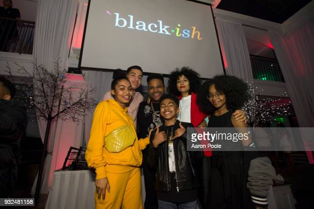 ISH The cast and crew of Walt Disney Television via Getty Images's critically acclaimed hit comedy blackish celebrate the end of season four at a...