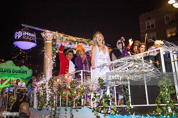 The cast and crew of Z100 attend the 43rd Annual Village Halloween Parade on October 31 2016 in New York City