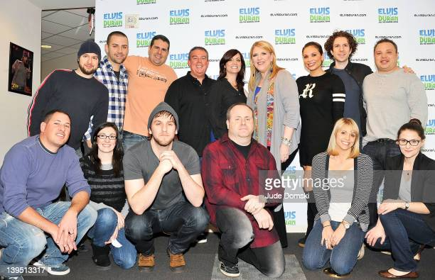 The cast and crew with Lisa Lampanelli as she visits The Elvis Duran Z100 Morning Show at Z100 Studio on February 22 2012 in New York City