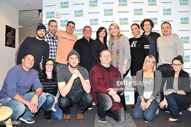 The cast and crew with Lisa Lampanelli as she visits The Elvis Duran Z100 Morning Show>> at Z100 Studio on February 22 2012 in New York City