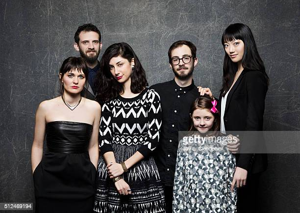 The cast and director of the film The Eyes of My Mother Kika Magalhaes Will Brill Clara Wong Flora Diaz and Joey CurtisGreen Nicholas Pesce pose for...