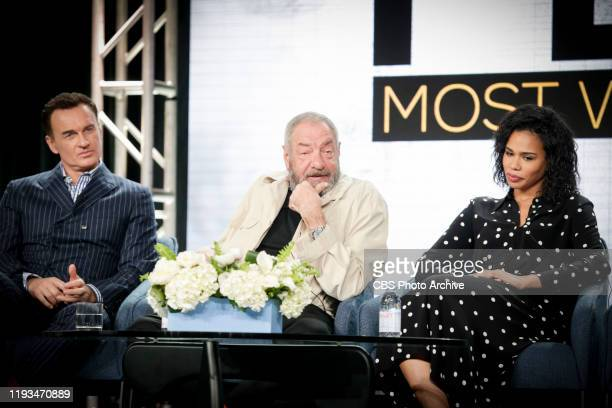 The cast and executive producer of the CBS series FBI MOST WANTED at the TCA WINTER PRESS TOUR 2020 on Sunday Jan 12 2020 at the Langham Huntington...